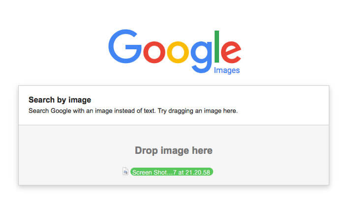 Reverse image search with google