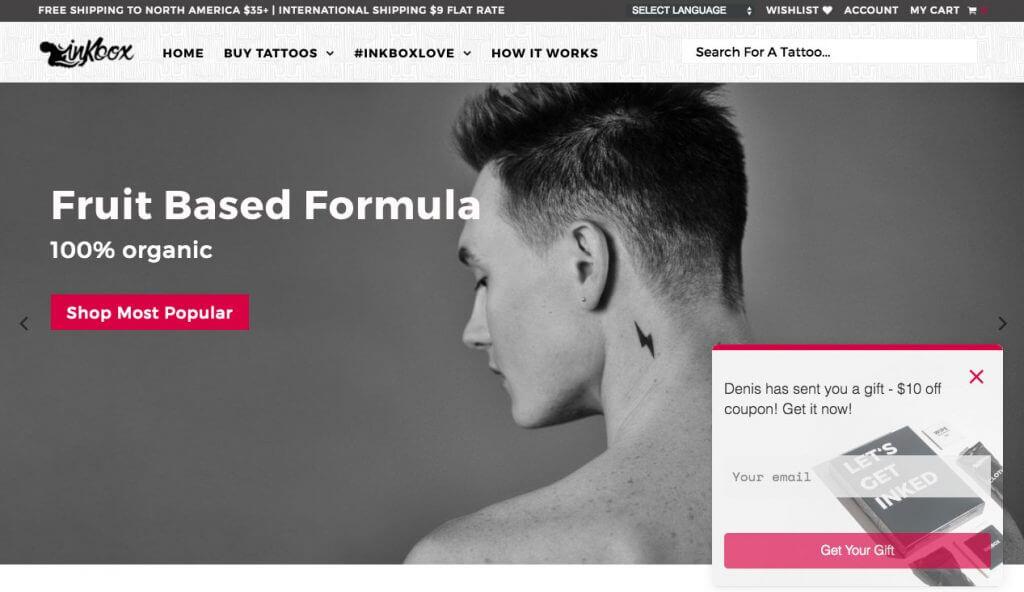 inkbox website
