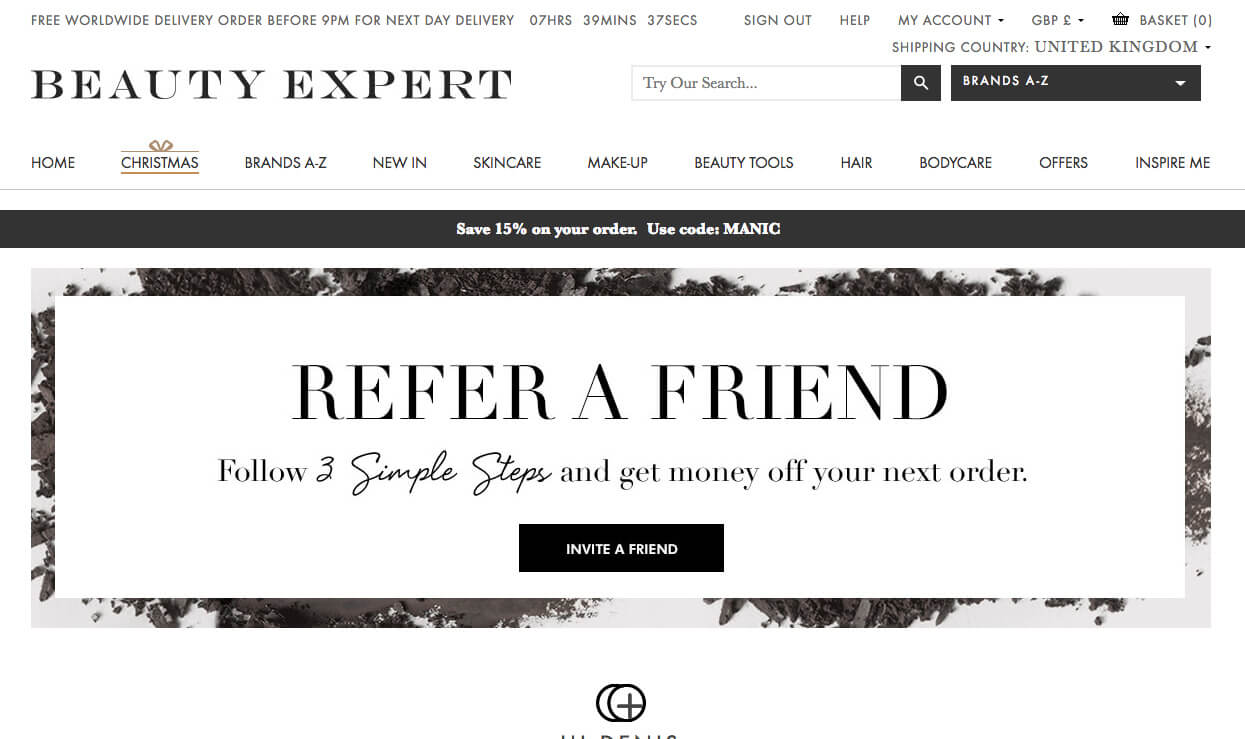 beauty expert refer a friend