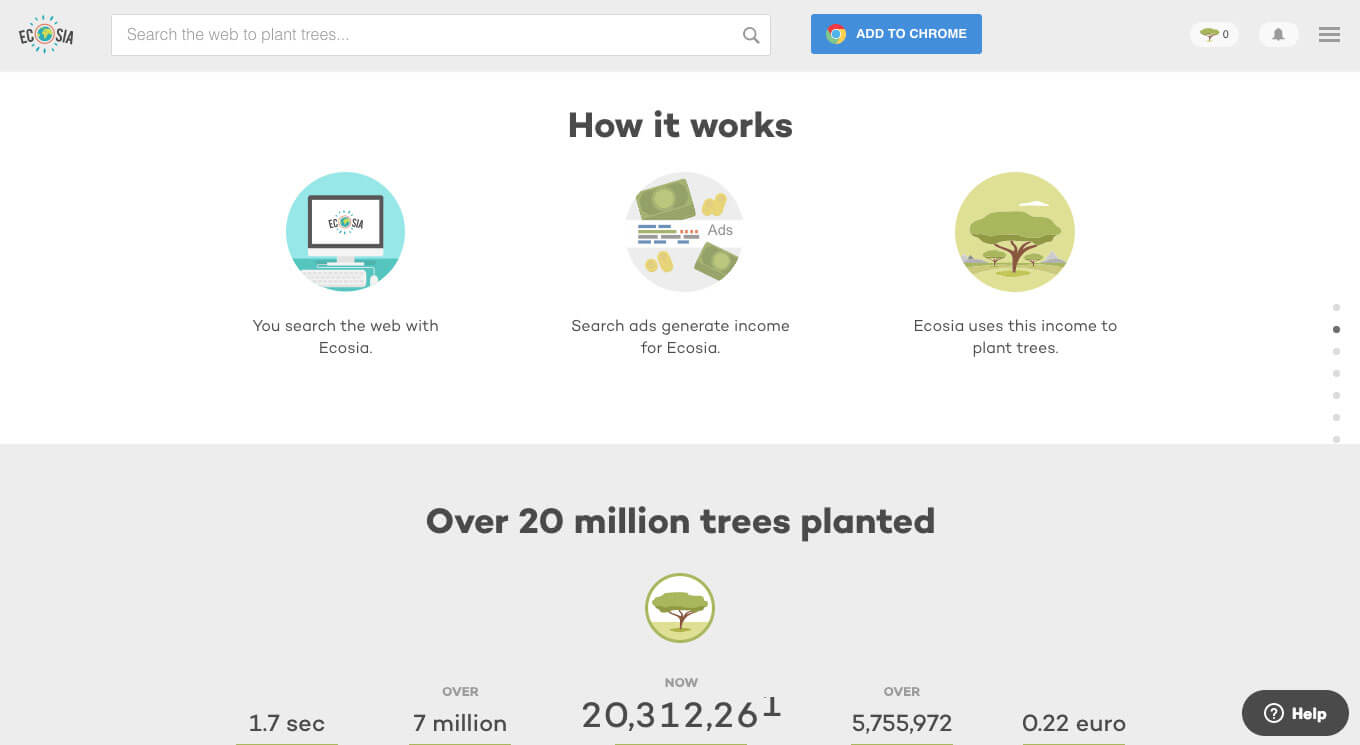 Ecosia : Plant trees while you search the web