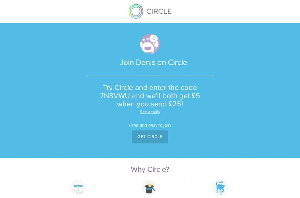 Circle app refer a friend code
