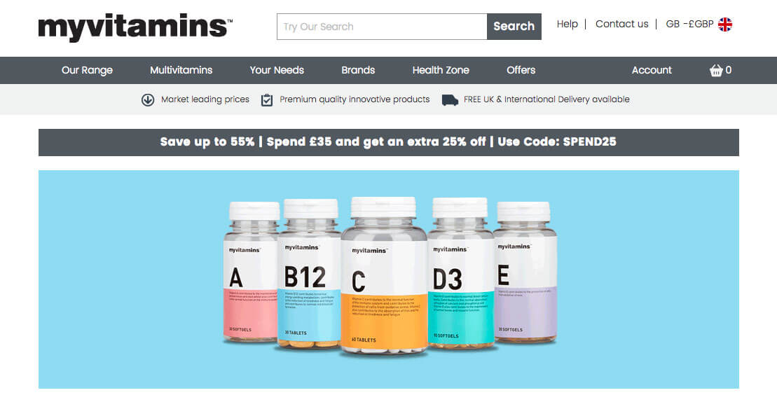 MyVitamins referral code, 25% discount on your first order