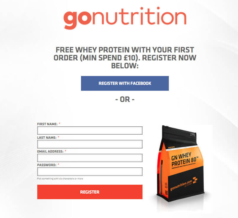 Go Nutrition refer a friend offer
