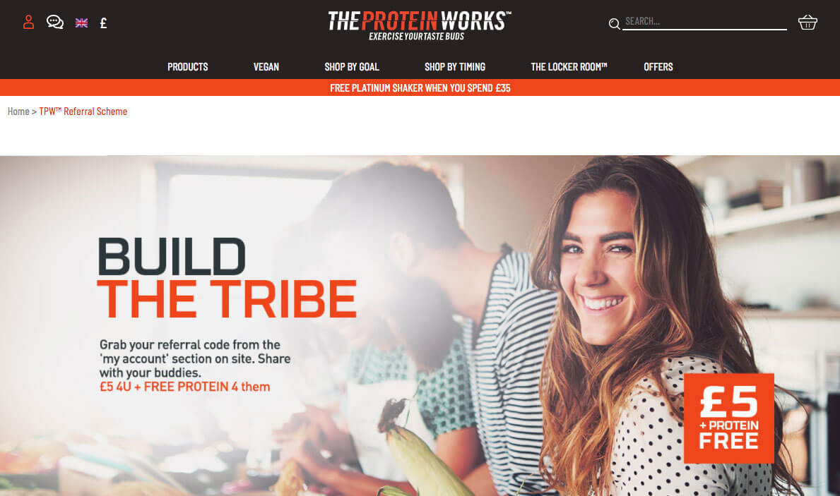 The Protein Works referral code offer