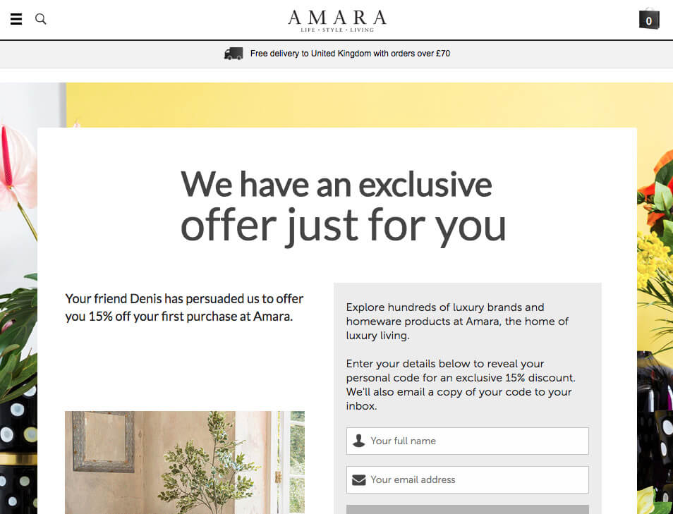 Amara code discount online - referral invite