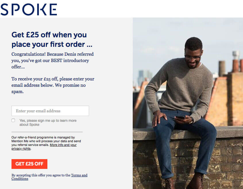 Spoke £25 off with a refer a friend invite
