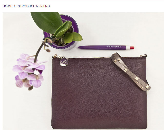 Aurora London refer a friend, 10% discount off your first order