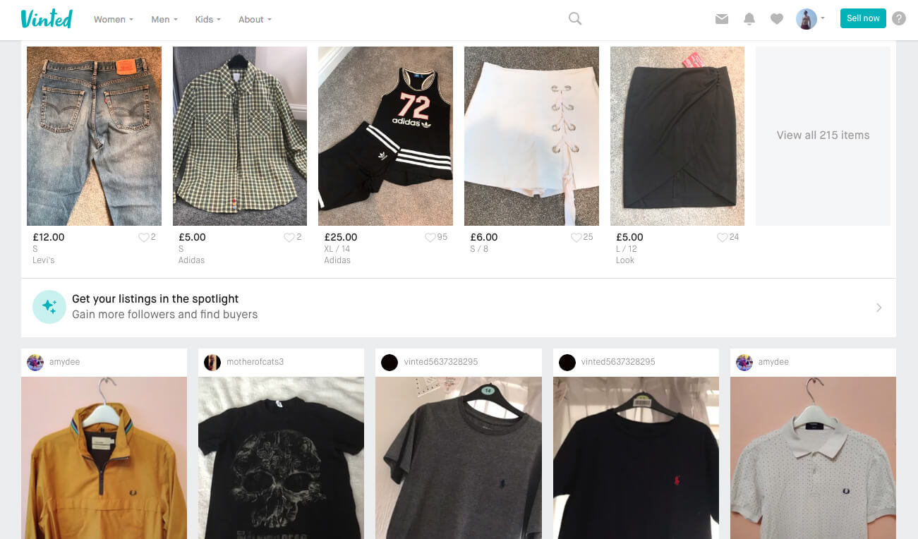 Vinted.co.uk - sell the clothes you don't need