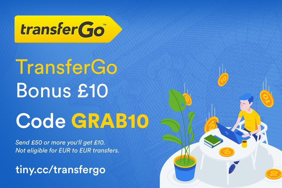 TransferGo referral discount, invite code for your first