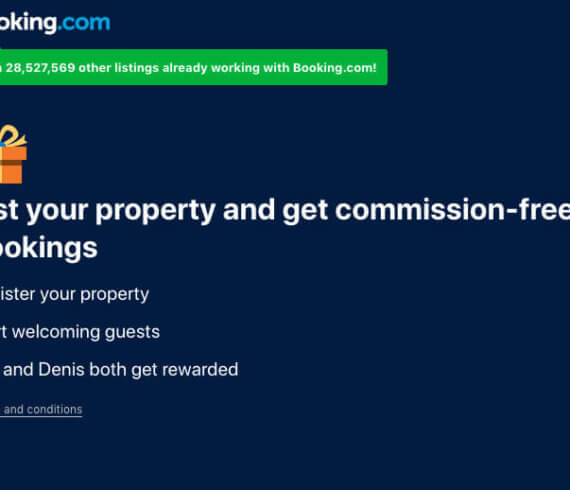 Receive 5 commission-free bookings when you list your property