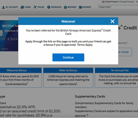 American express referral code - Amex UK