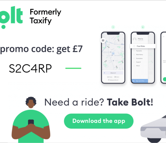 Bolt referral code - £7 first free ride code S2C4RP