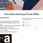 Voxi referral code - Friends with benefits £10 gift card