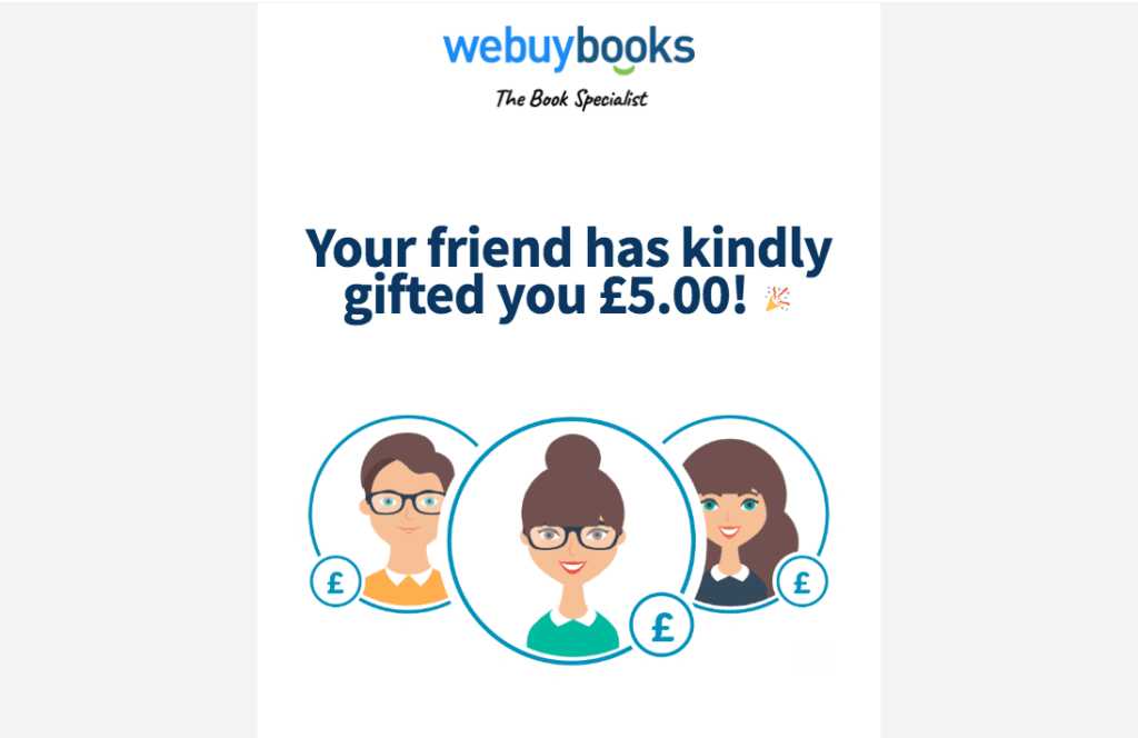 WeBuyBooks.co.uk code referral for £5