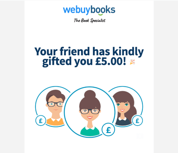 WeBuyBooks.co.uk code referral for £5