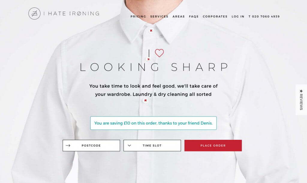 ihateironing promo code 10 GBP discount code