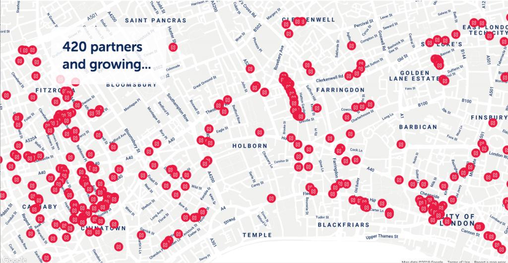 Nez map London