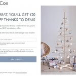 Cox & Cox referral code get £20 on first order over £25 - refer a friend code discount
