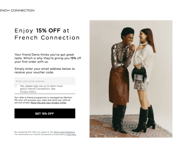 French connection referral code 15% off online + free delivery (first-order subject to a £100 minimum spend)