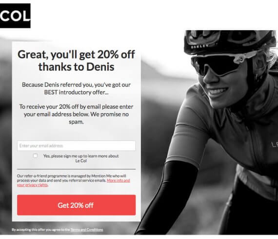 Le Col code discount 20% off - refer a friend invite - order online at lecol.cc