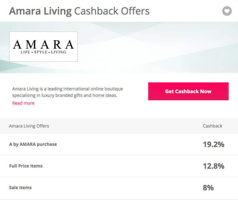 Amara cashback link