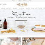Wearth London referral invite, eco shopping website
