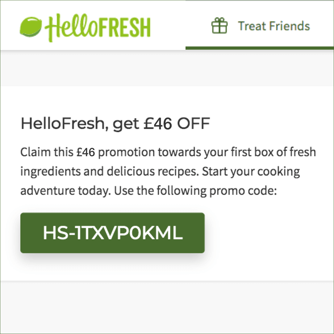 hello fresh discount code