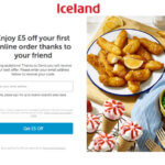 Iceland referral code discount 5 GBP off your first order with a refer a friend invite