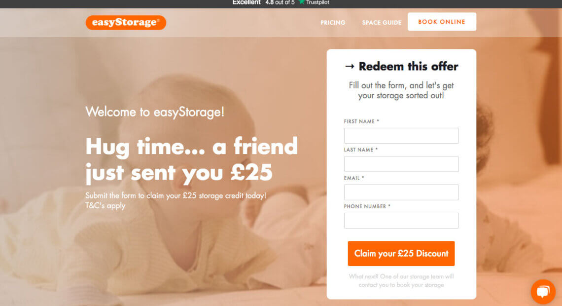 EasyStorage referral code - Get your EasyStorage discount code with this refer a friend invite