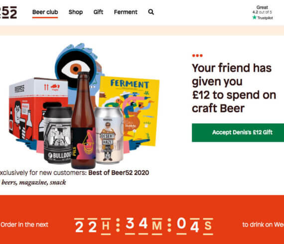 Beer52 referral code trial case £12 off discount - refer a friend offer