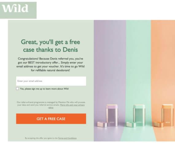 Wild referral code get a discount code for a free case at wearewild.com