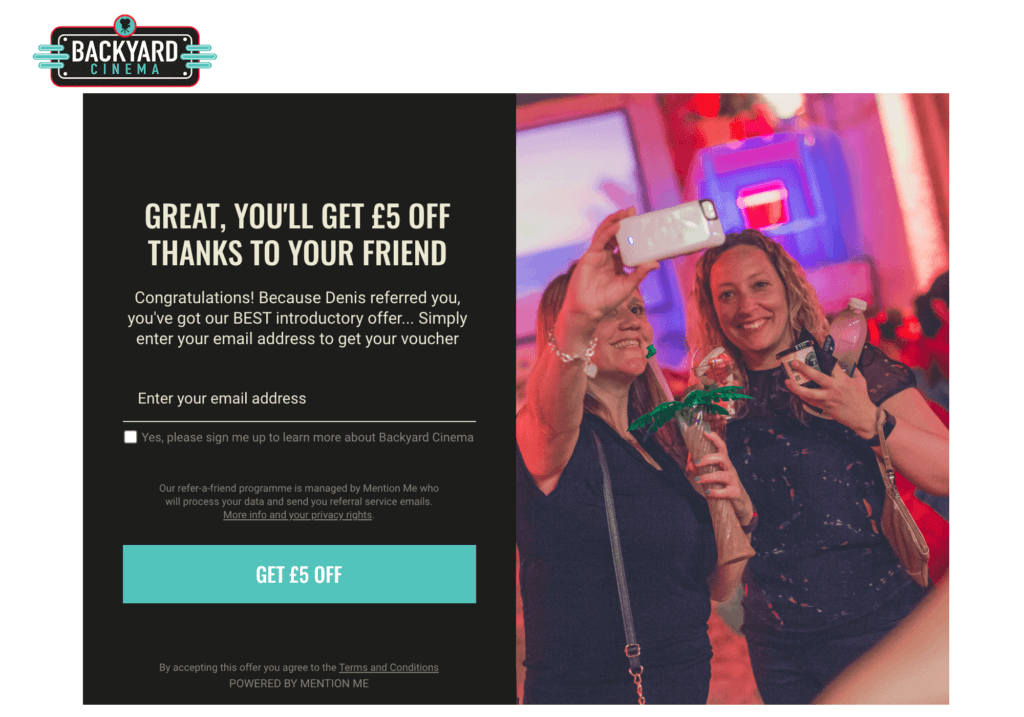 Backyard Cinema discount code, get £5 off with this Backyard Cinema referral invite for a 5 GBP discount code.