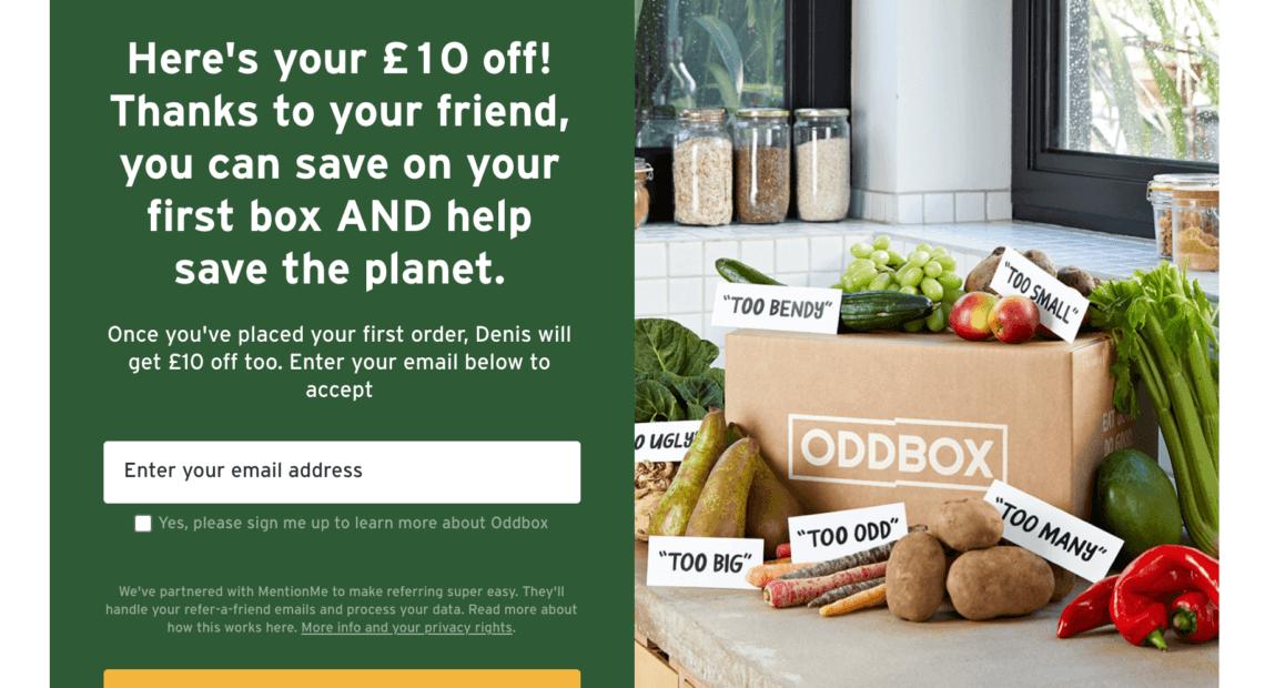 Oddbox referral code get £10 to spend with Oddbox