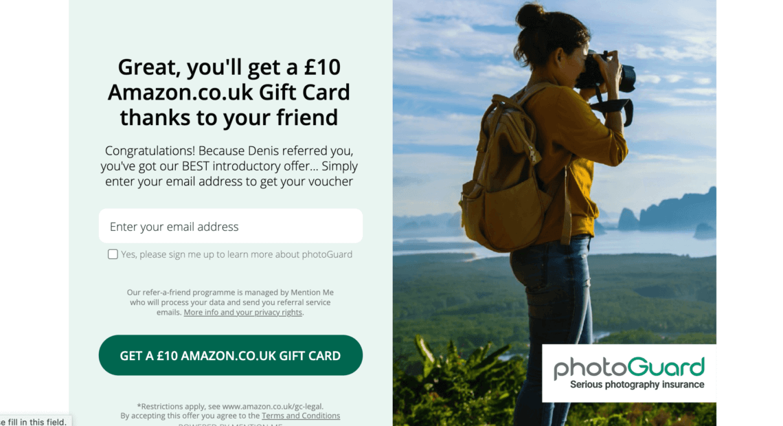 How to get a photoGuard referral code with the refer a friend offer - 2021