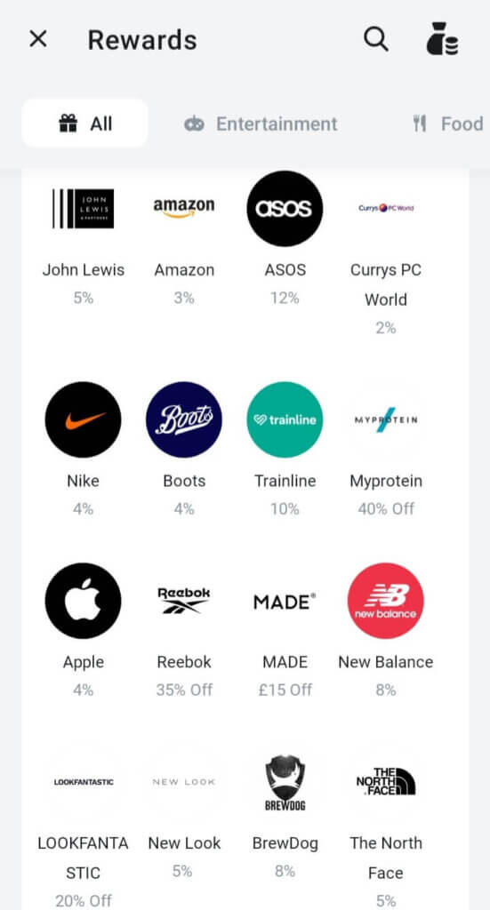 Revolut online rewards, get cashback and discount on many retailers