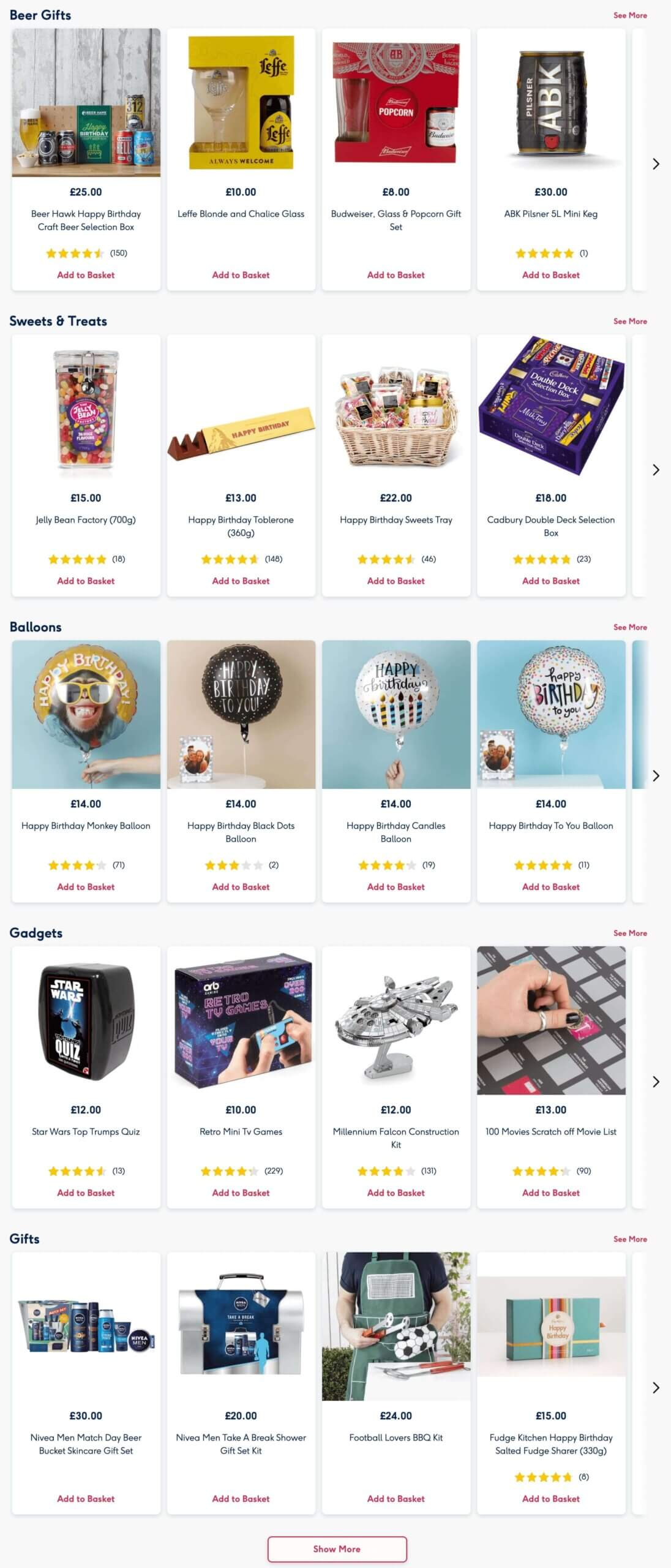 Moonpig gifts for friends, family and lovers