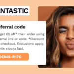 Look fantastic referral code 5 GBP discount code beauty promo