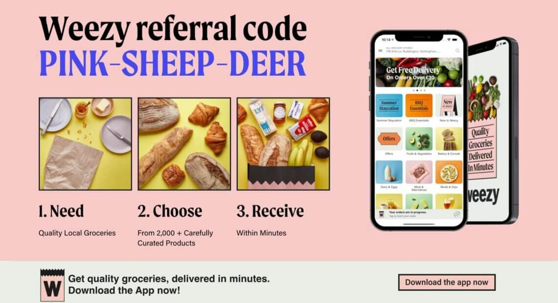 weezy-referral-code-50-off-refer-friend-invitation-london-uk-discount-gbp