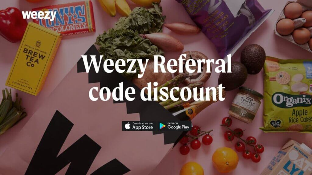 Weezy referral discount code on your first Weezy app order in the UK